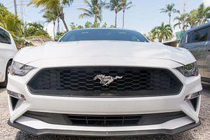 Het front van een Ford Mustang van