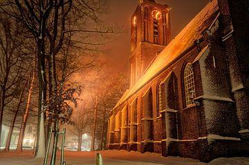 Kerk in de sneeuw von Robin Pics (verliefd op Utrecht)