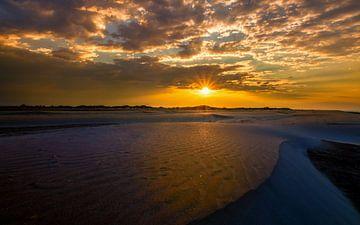 zonsopkomst in de duinen van