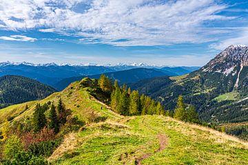 "Berglandschaft ""Glück ist: Blicke in die Berge"" von Coen Weesjes"