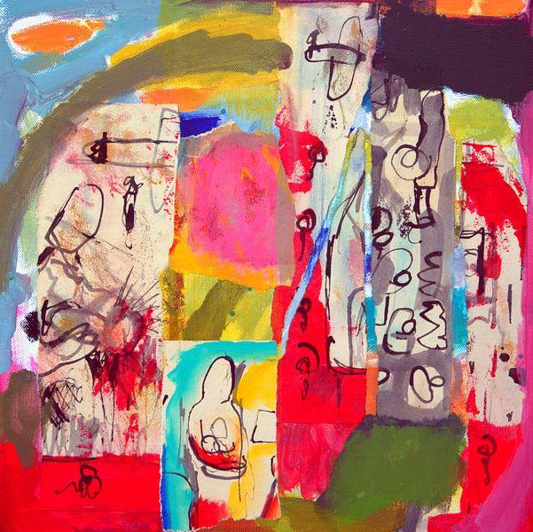 """Collage """"Zoeken naar betekenis"""" van Ina Wuite"""