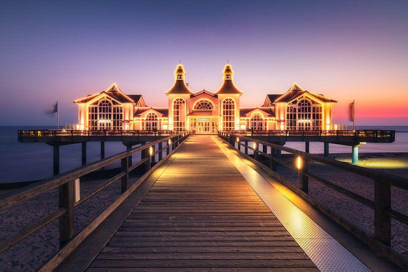 Aangestoken pier (Sellin / Ruegen) van Dirk Wiemer