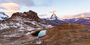 Riffelsee  und das Matterhorn in der Schweiz von Werner Dieterich