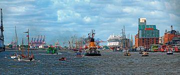 Haven van Hamburg van Leopold Brix