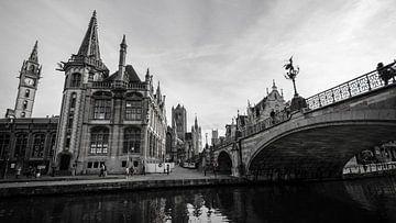 Gent, black&white, Belgium, Ghent, 2015,  van Jan Hagen