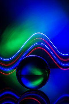 Glaskugel mit Lichteffekt von Laurents ten Voorde