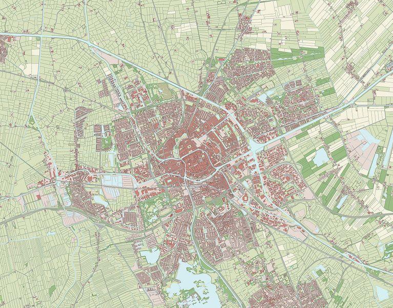 Kaart vanGroningen