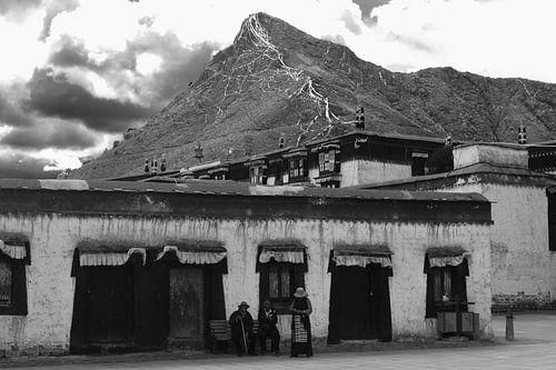 Tibetaans straatleven van