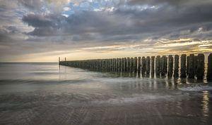 Sonnenuntergang an der Küste von Marian van der Kallen Fotografie