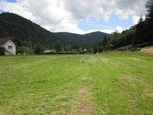 Berglandschap vanuit het dal