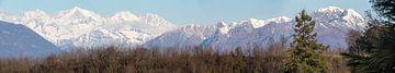 Panorama bij het Lago Maggoire van Hans van Dijk