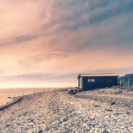 Einsames Strandhaus in Fornæs von Bart Sallé