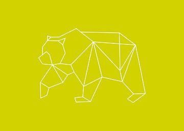Bär - Grafische Tiere von Dieuwertje en Kevin van der Linden - Meijer