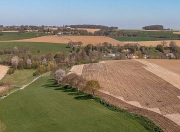 Luchtfoto van Bulkum bij Simpelveld in Zuid-Limburg