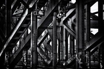 Stahlträger Eisenbahn-Brücke von Jan Brons