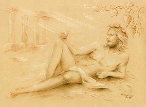 Dionysus god van de wijn - Wijn god Bacchus van