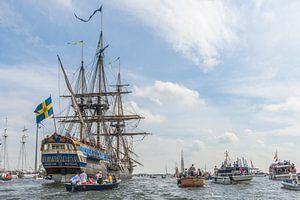 SAIL AMSTERDAM 2015: Tall Ship onderweg naar Amsterdam.