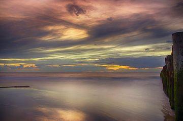 Zonsondergang Opaalkust Wissant Frankrijk van