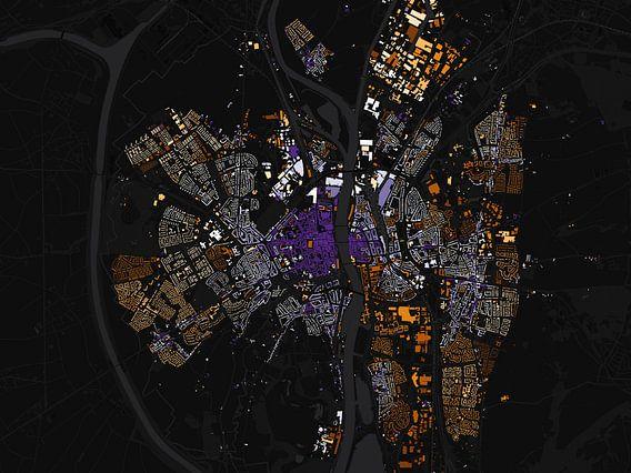 Kaart van Maastricht abstract van Stef Verdonk