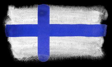 Symbolische nationale vlag van Finland van Achim Prill