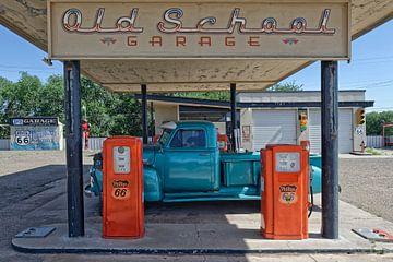 Station de carburant sur la route 66 sur Tilly Meijer