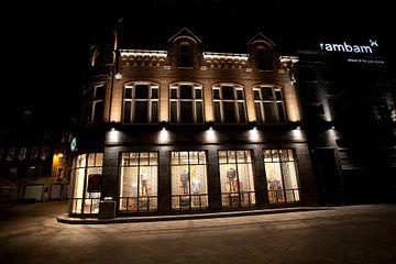 Avondfoto van het centrum van Eindhoven van Kees van Dun