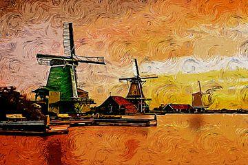 Moulins à vent sur Peter Roder