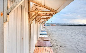 Beach hut at Belgian Coast sur Sophie Wils