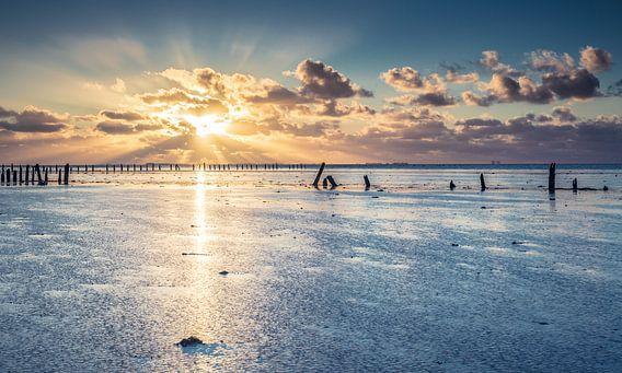 Zonsondergang Wierum van Martijn van Dellen