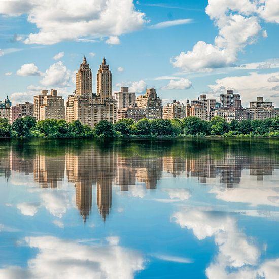 Ein Blick auf New York City vom Central Park van Hannes Cmarits