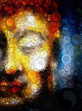Buddha Blur with Yin & Yang von Michael Ladenthin
