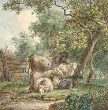 Rinder in einem Obstgarten, Pieter Gerardus van Os