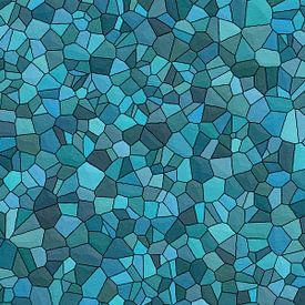 Motif de pierre bleu sur Marion Tenbergen