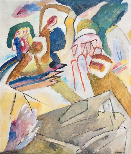 Improvisatie 18 (met grafsteen), Wassily Kandinsky van Meesterlijcke Meesters