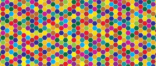 Mosaic, Honeycomb, honey, hexagon, Beehive, background van Mark Rademaker
