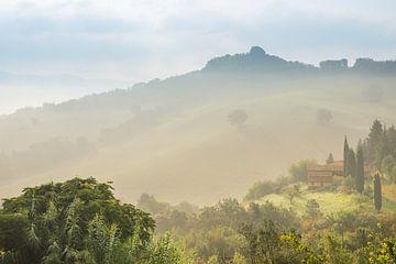 Toscaans landschap (Italië) van Kaj Hendriks