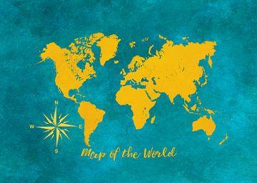 Wereldkaart 2 #kaart #wereldkaart van JBJart Justyna Jaszke