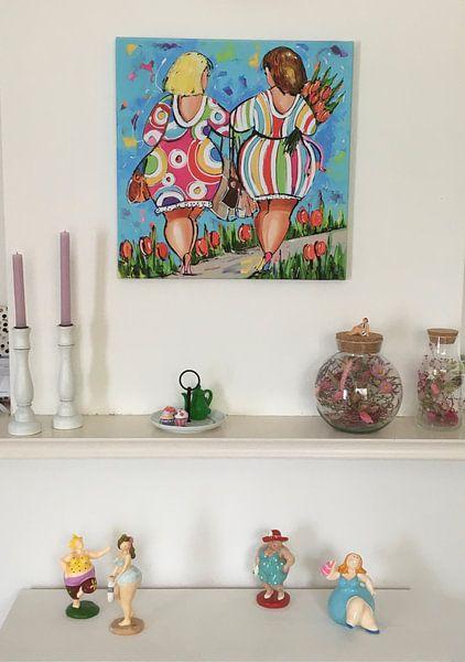 Kundenfoto: Damen Hand in Hand von Vrolijk Schilderij