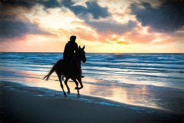 Pferd und Strand von eric van der eijk