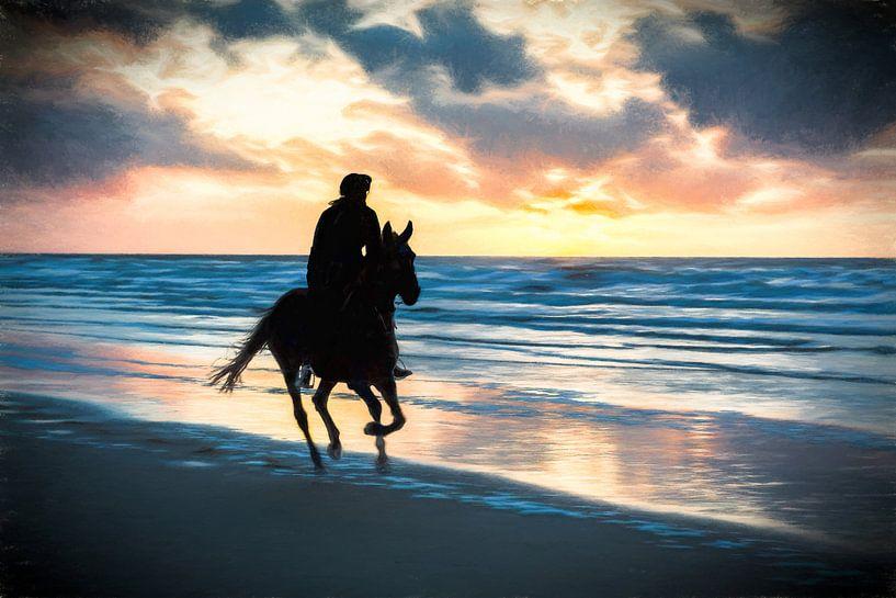 horse and beach van eric van der eijk
