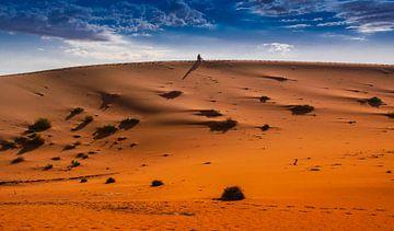 Mediteren in de woestijn, Sossusvlei,  Namibië van Rietje Bulthuis