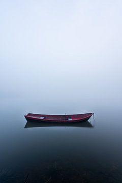Le petit bateau rouge sur Albert Lamme