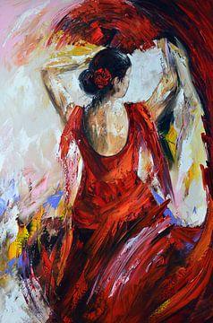 Flamenco Art von Gena Theheartofart