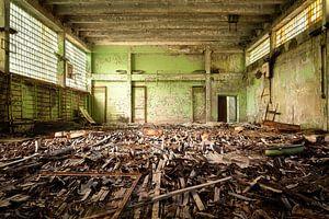 Verlaten Sportschool in Tsjernobyl.