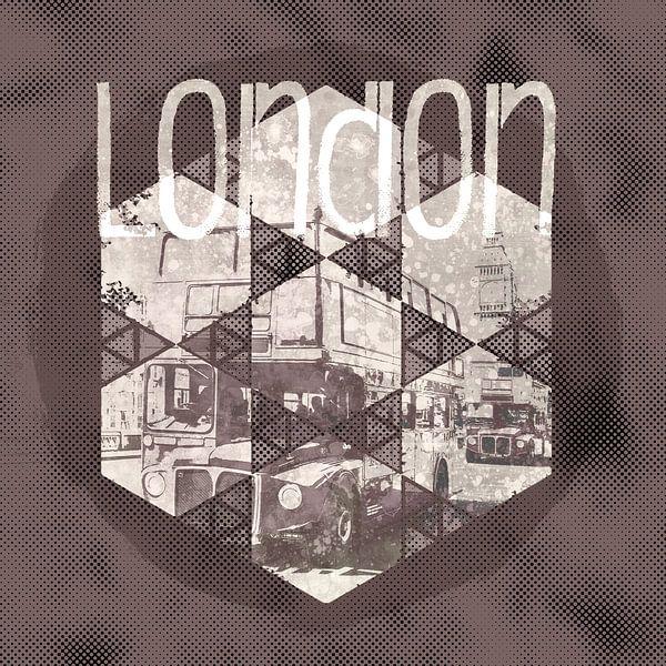 Graphic Art LONDON Streetscene van Melanie Viola