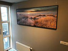 Klantfoto: Paal 17 Texel zonsondergang  Panorama  van Texel360Fotografie Richard Heerschap, op canvas