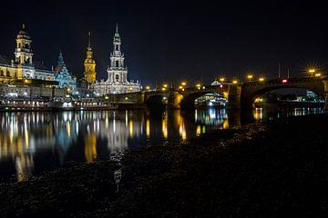 Dresden bei Nacht von Andreas Müller