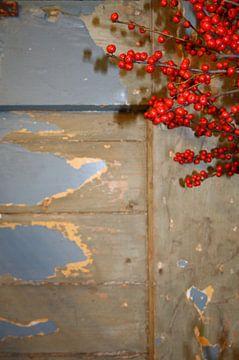 Bloemen voor deur van Jetty Boterhoek