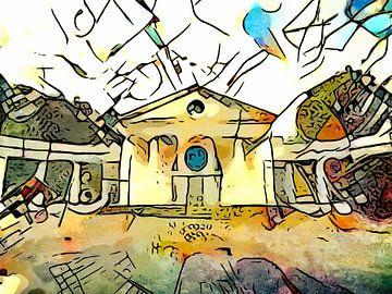 Kandinsky ontmoet Bad Oeynhausen #3 van zam art