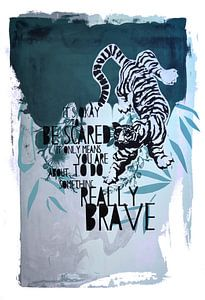 Brave jungle tiger van Inge Buddingh